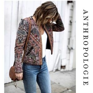 Anthropologie Brand new quilted studded jacket